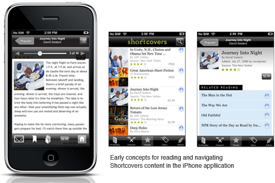 Shortcovers Mobile